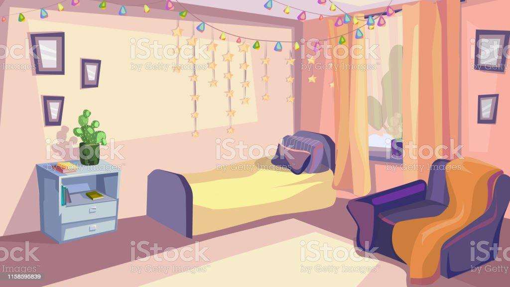 Kinder Schlafzimmer Interior Kid Room Modernes Design Stock ...