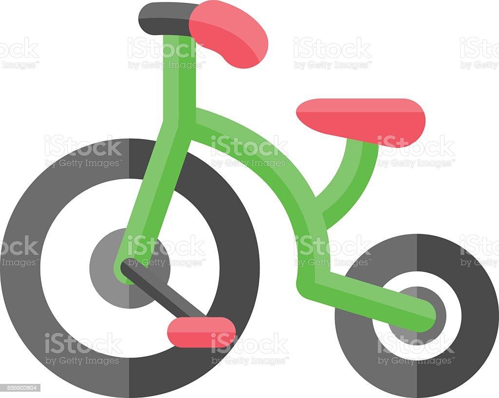 children bicycle icon vector art illustration