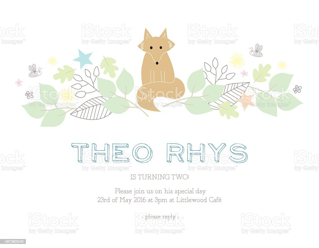 Children Birthday Invitation Card Stock Vector Art More