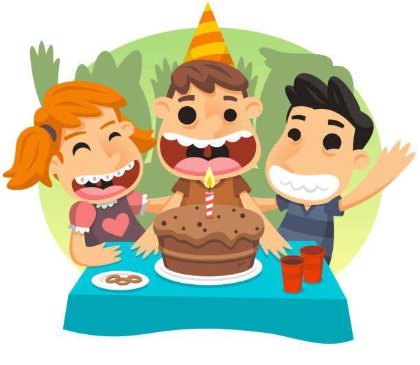 illustrations, cliparts, dessins animés et icônes de fête d'anniversaire pour enfants - ballon anniversaire smiley