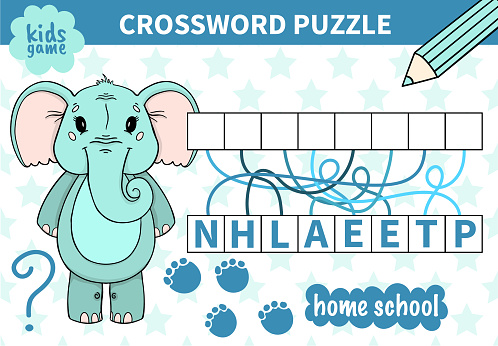 Children board animal game crossword for preschoolers and primary school students worksheets.Page read and match for kids educational book