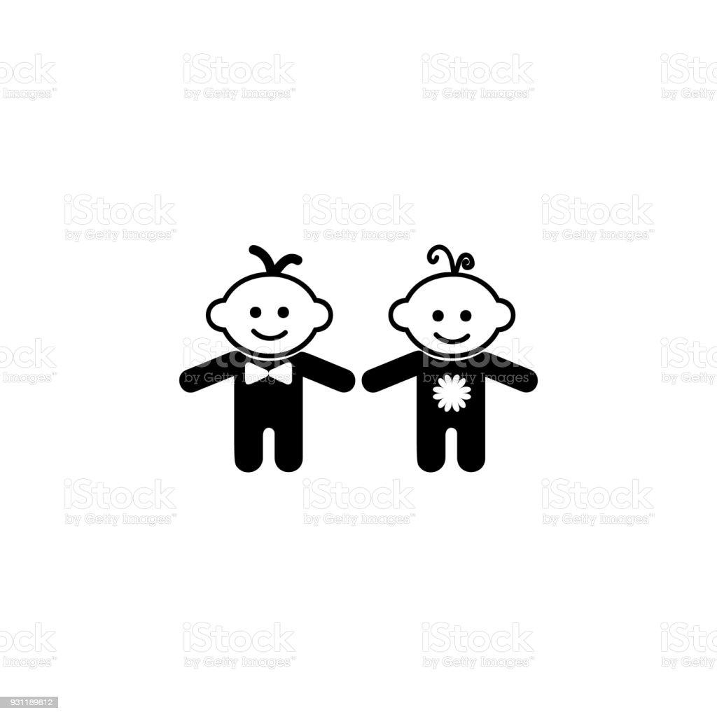 Kinder Jungen Und Mädchensymbol Element Des Babysymbol