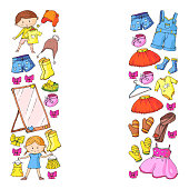 Children clothes. Background for babies teens