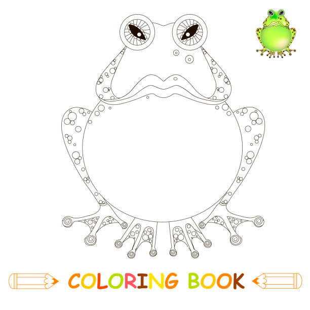 Royalty Free Frog Clipart Black And White Clip Art Vector Images