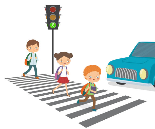 Top 60 Crossing The Street Clip Art, Vector Graphics And