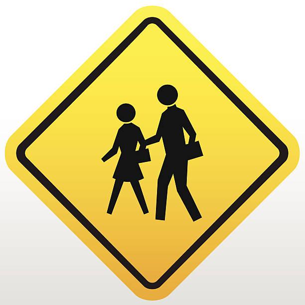 bildbanksillustrationer, clip art samt tecknat material och ikoner med children crossing sign - tidszon