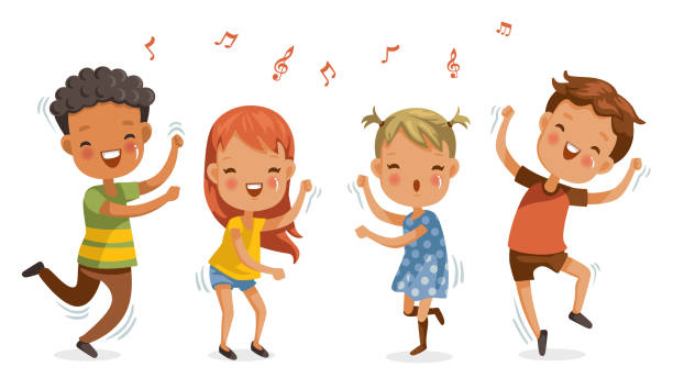 Kid Dancing Illustrations, Royalty-Free Vector Graphics