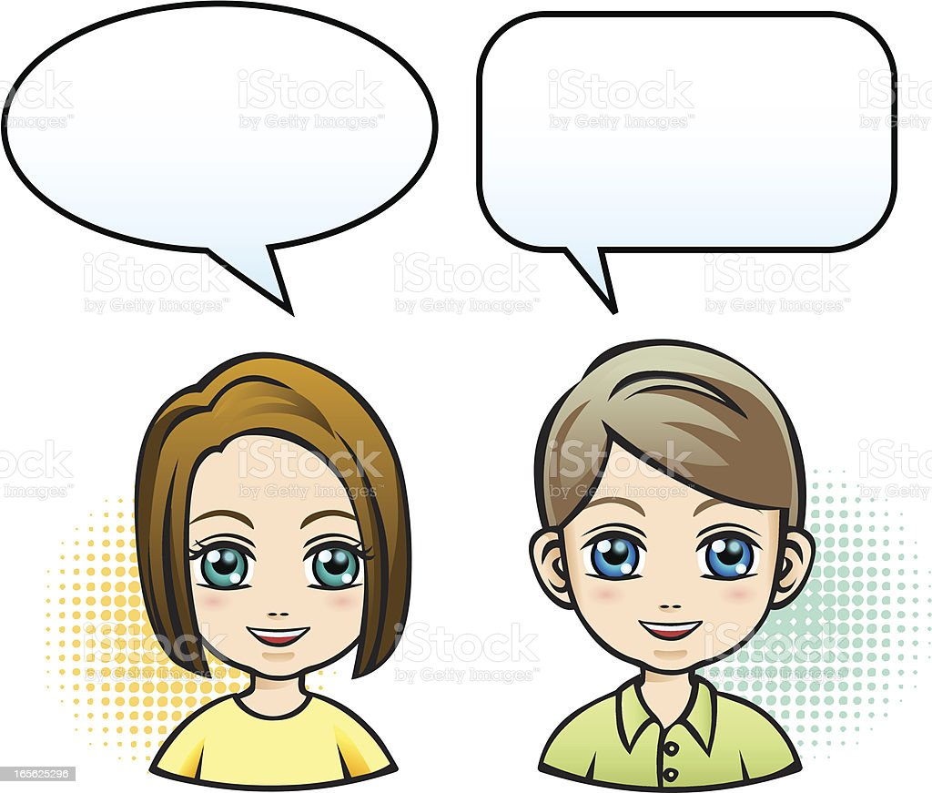 Children Dialogue Stock Illustration - Download Image Now