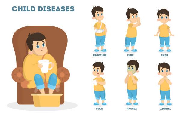 Best Illness Baby Cartoon Child Illustrations, Royalty ...