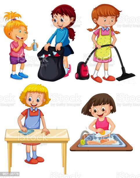Children doing housework on white background vector id952103778?b=1&k=6&m=952103778&s=612x612&h=wmydm ql5phfdxgl5g02fskd3n qixowq1it4u58ceu=