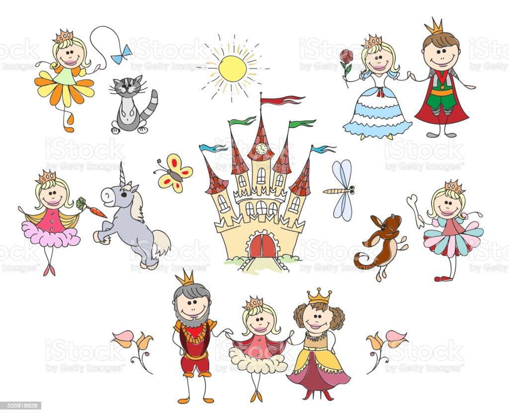 Bambini Disegni Per Bambina Immagini Vettoriali Stock E Altre