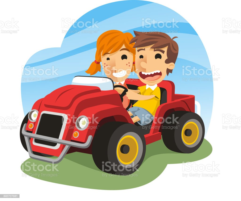 Children driving toy car royalty-free children driving toy car stock vector art & more images of 12-17 months