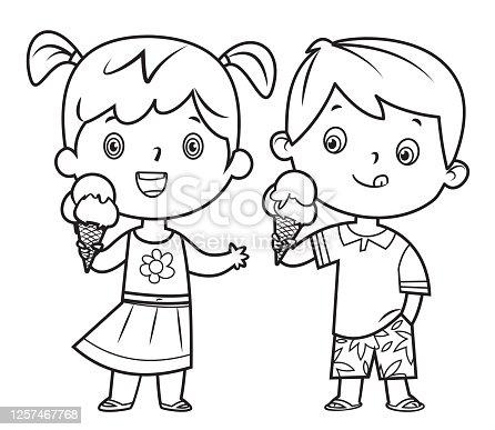 istock Children eating ice cream 1257467768