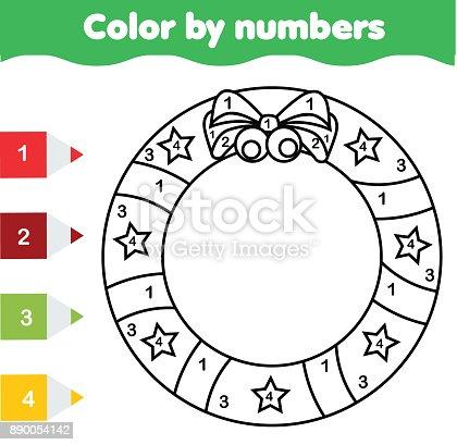 Ilustración de Juego Educativo De Los Niños Página Para Colorear Con ...