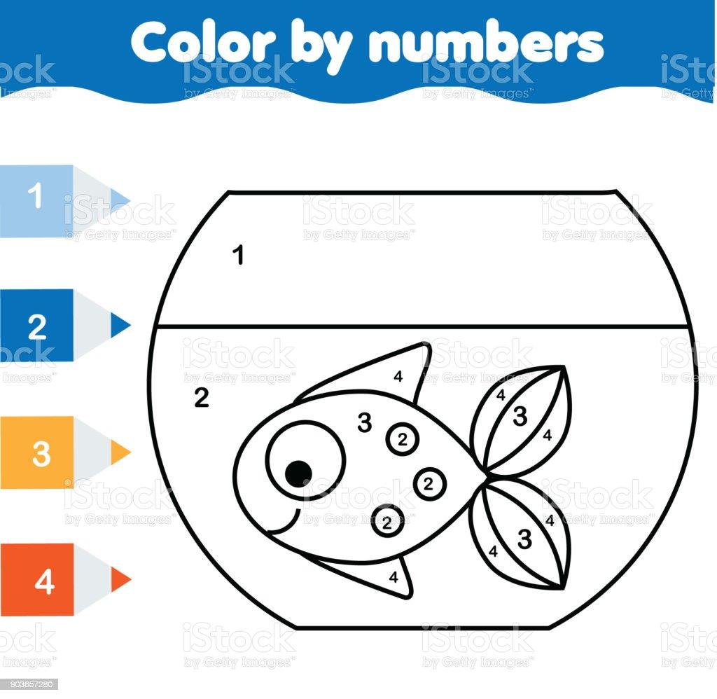 Ilustración De Juego Educativo De Los Niños Página Para Colorear De