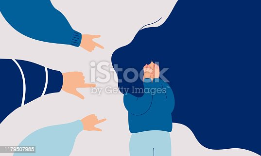 istock Children engage in bullying behavior towards a school girl. 1179507985