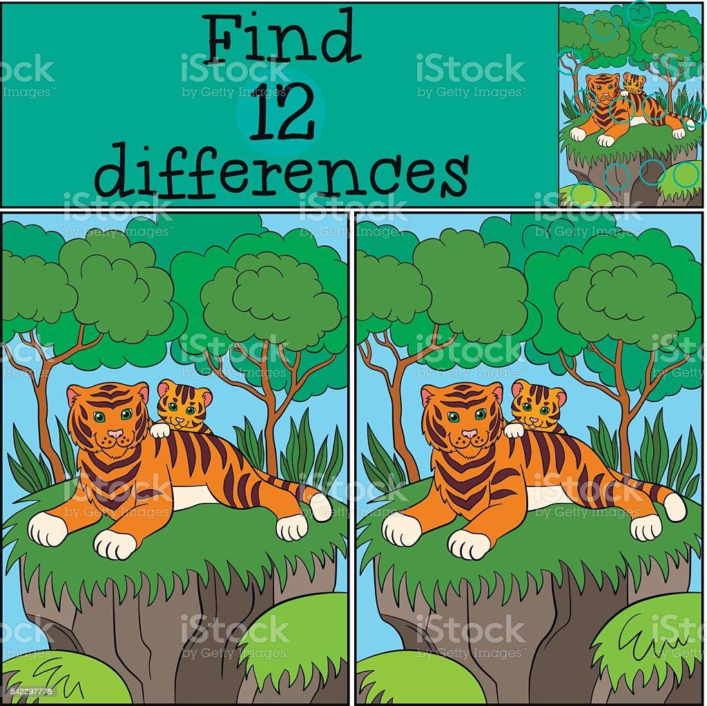 Ilustracion De Juegos De Ninos Encuentra Las Diferencias Madre Con