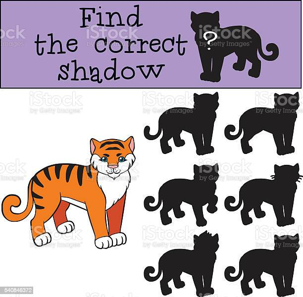 Children games find the correct shadow little cute tiger vector id540846372?b=1&k=6&m=540846372&s=612x612&h=ffkxgembfq2ddaafz9 mgtfcgolrd14ma7rbd5pmuwy=