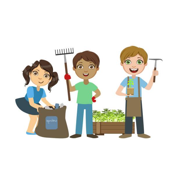 Royalty Free Kids Gardening Clip Art, Vector Images ...
