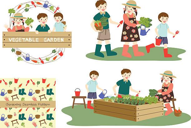 kinder garten - kinderstiefel stock-grafiken, -clipart, -cartoons und -symbole