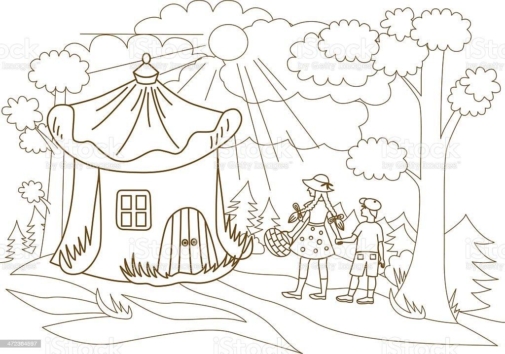 Ilustración de Los Niños Llevar Por El Fabuloso Bosque y más banco ...
