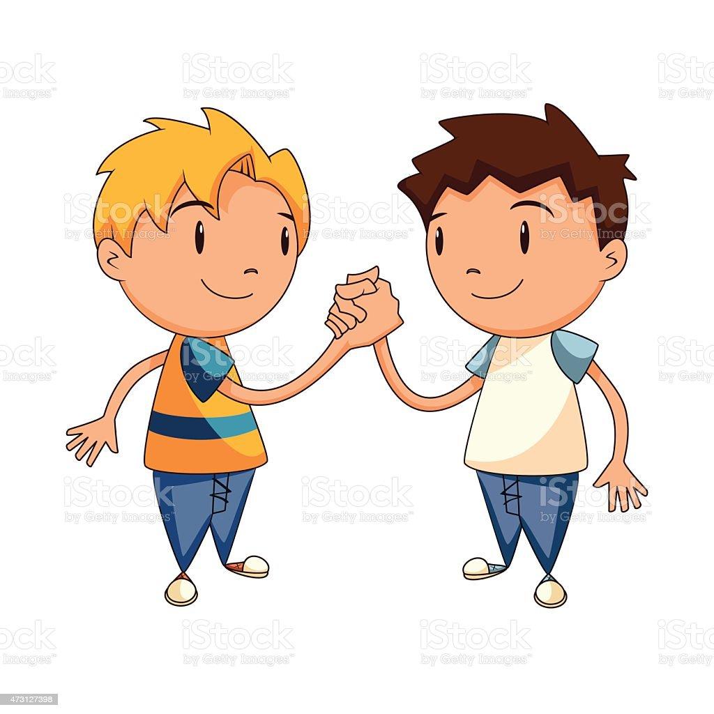 Children Handshake Vector Illustration Stock Vector Art ...