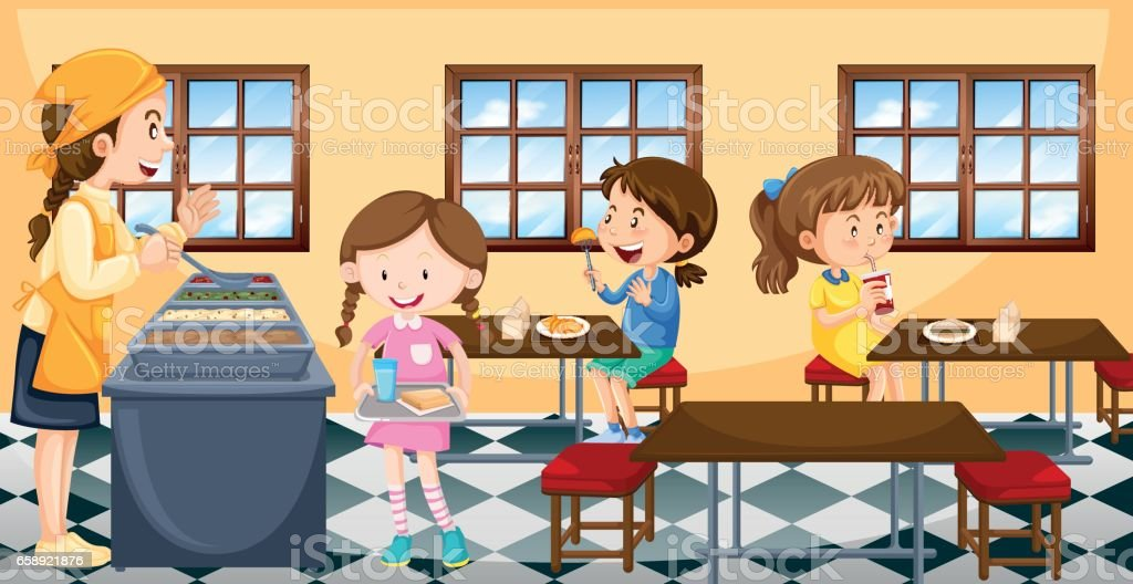royalty free school cafeteria clip art vector images rh istockphoto com free lunchroom clipart school lunchroom clipart