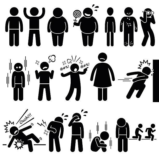 Children Health Physical and Mental Problem Syndrome Illustrations vector art illustration
