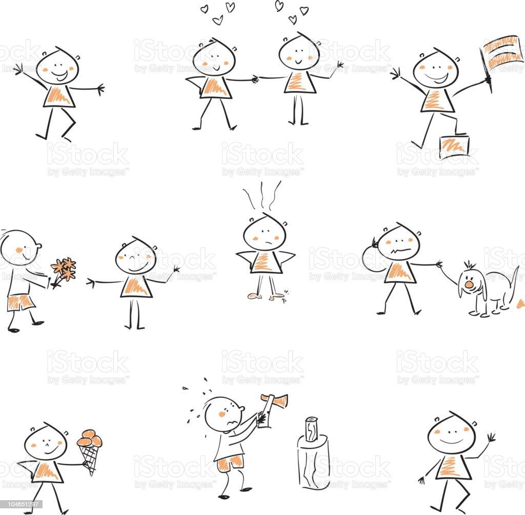 children icon set royalty-free stock vector art