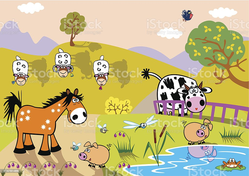 children illustration royalty-free stock vector art