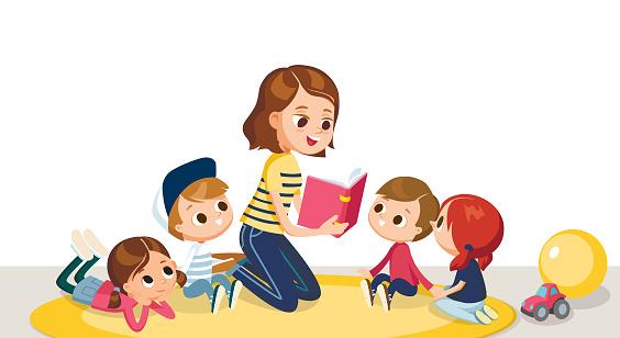 Babysitter stock illustrations