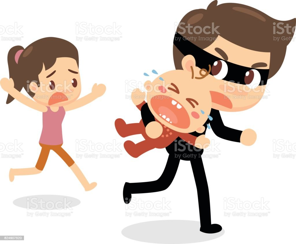 Children Kidnapping Baby Kidnapping Stock Vector Art ...