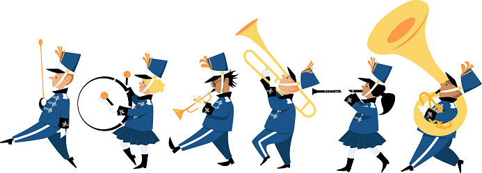 Children marching band