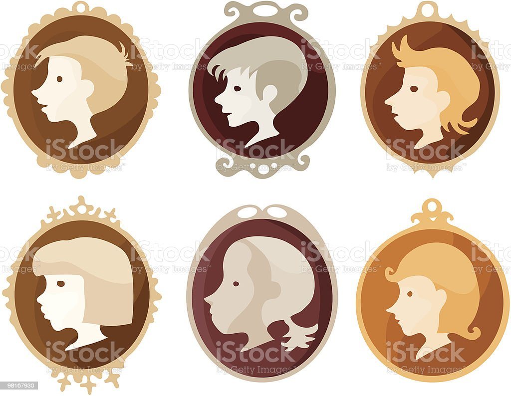 Children Medallions royalty-free children medallions stock vector art & more images of boys