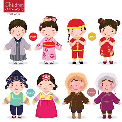 Children of the world; Japan, China, Korea and Mongolia