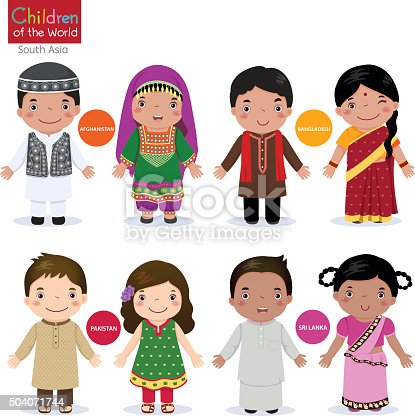 istock Children of the world (Afghanistan, Bangladesh, Pakistan and Srilanka) 504071744