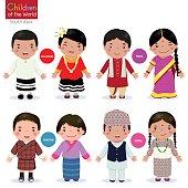 Children of the world (Maldives, India, Bhutan and Nepal)