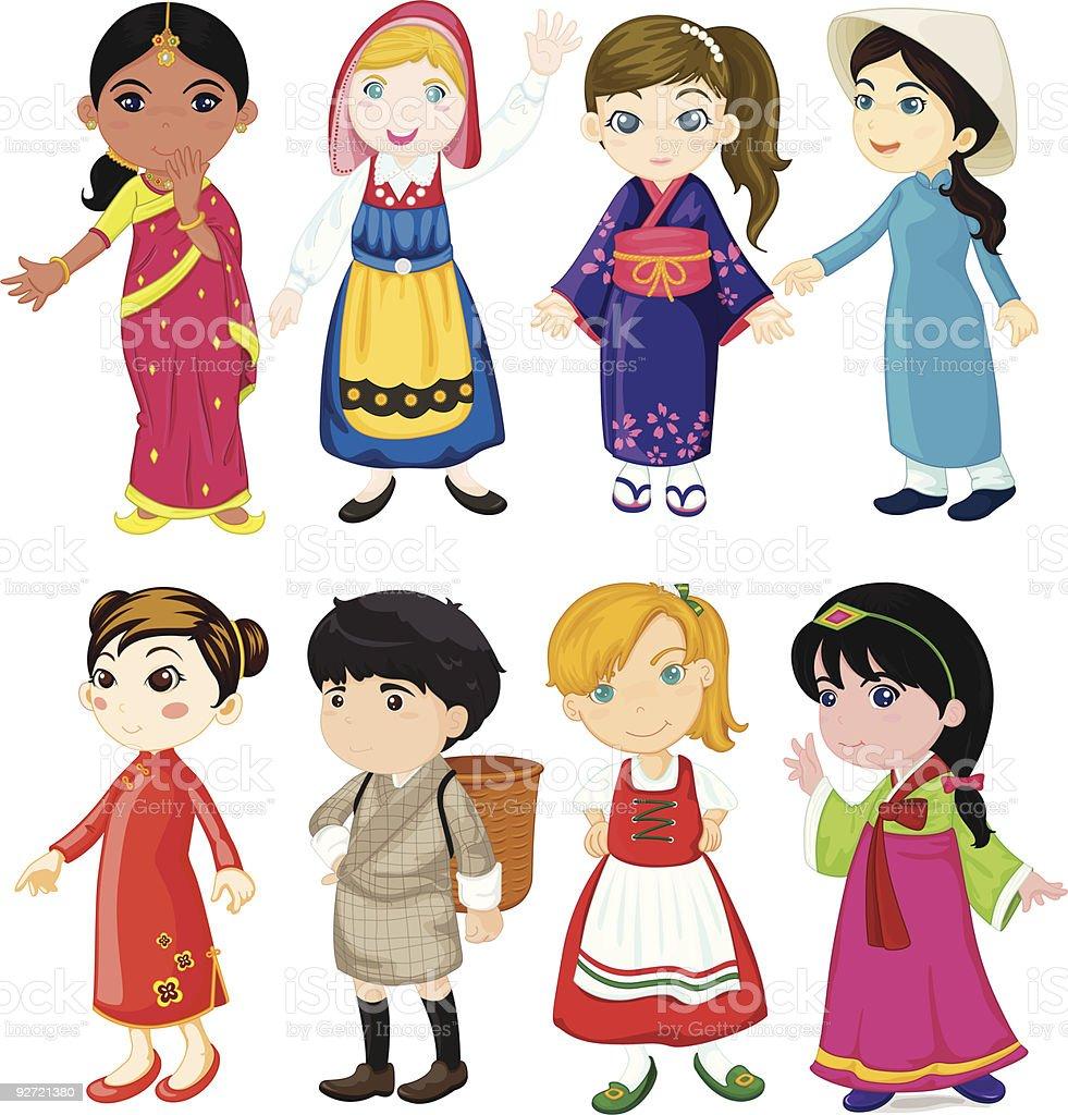 children of the world royalty-free stock vector art