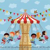 Children on a Carousel.