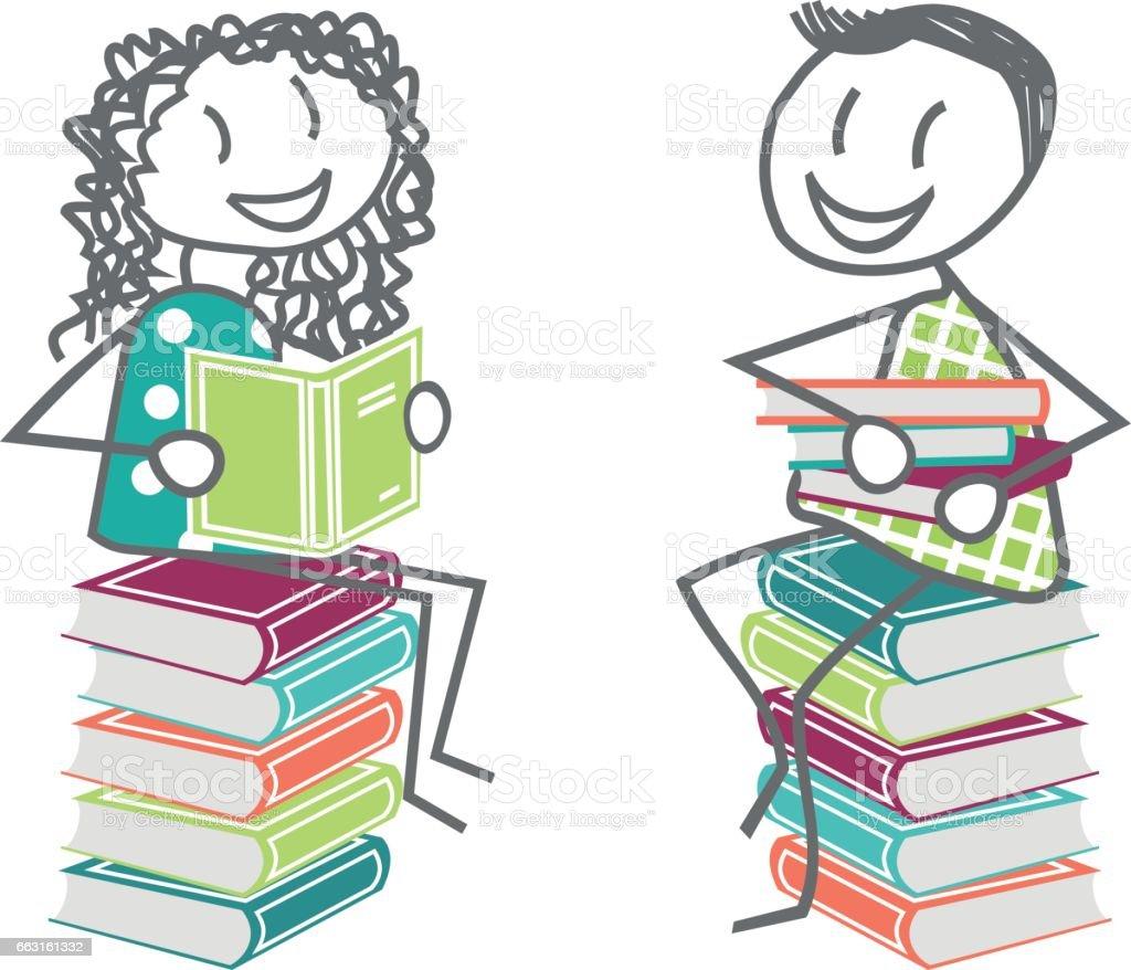 Les Enfants Ou Les Adultes Qui Lisent Des Livres A La