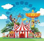 Children people  amusement park