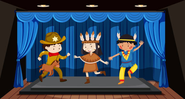 Theatre invitation and tickets | LearnEnglish Kids ...  |Acting On Stage Cartoon