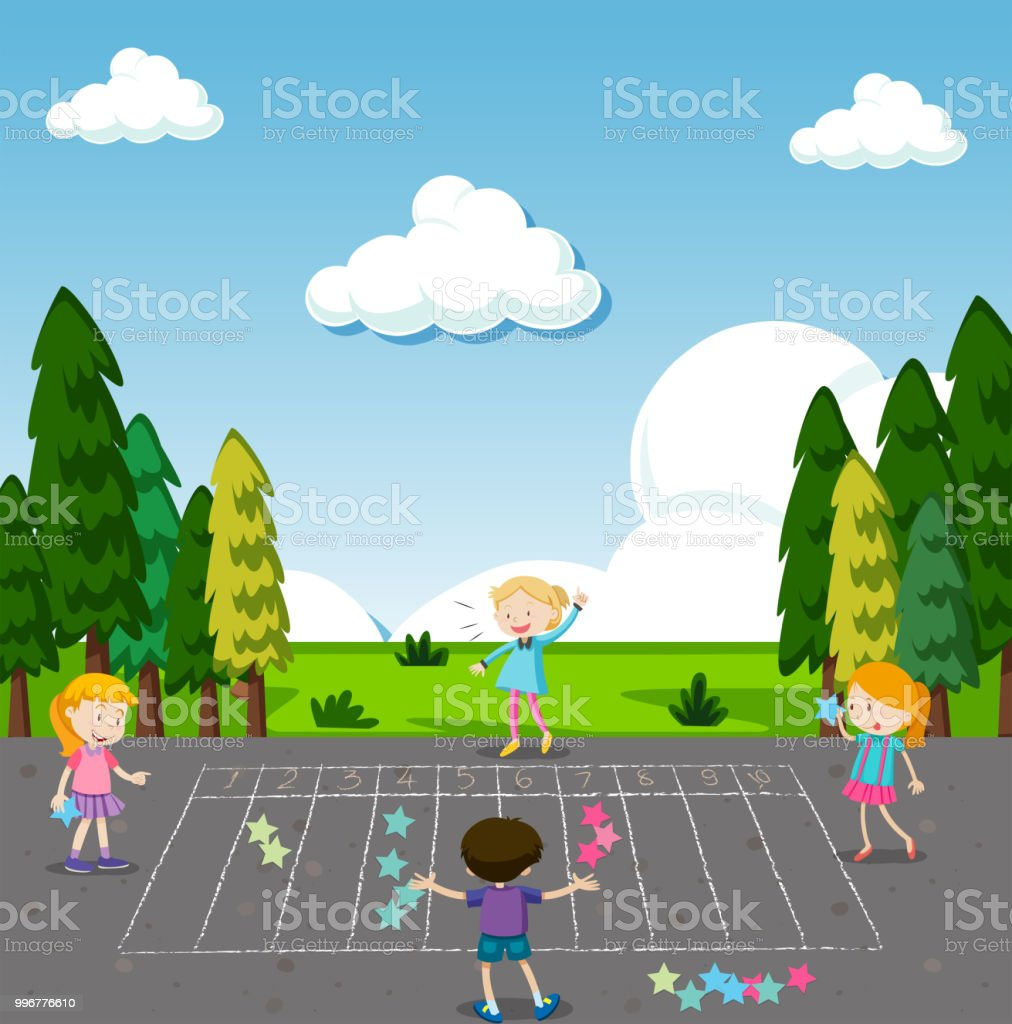 children play math game at park royalty free children play math game at park stock