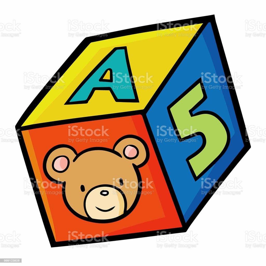 cubo de playbful de niños - ilustración de arte vectorial