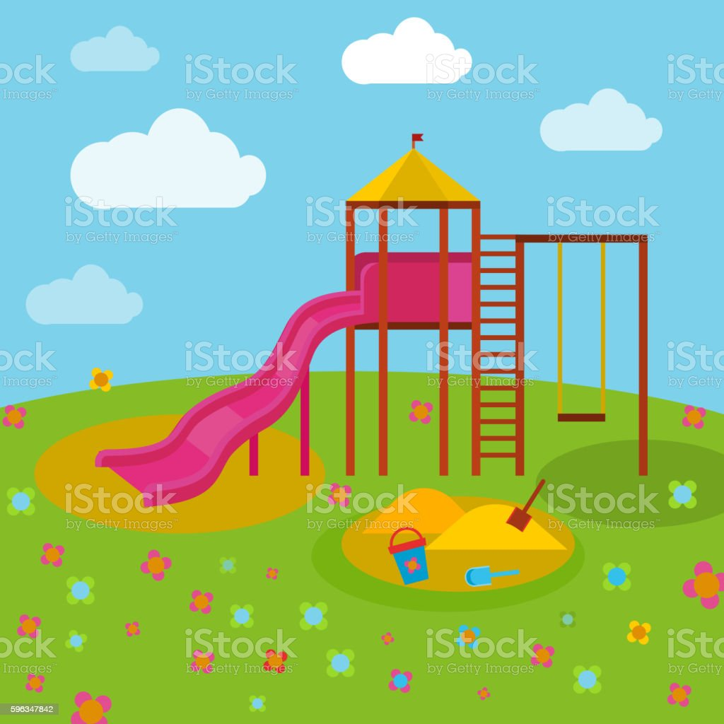 Children Playground 04 A royalty-free children playground 04 a stock vector art & more images of baby