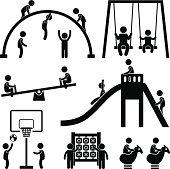 Children Playground Outdoor Park Pictogram