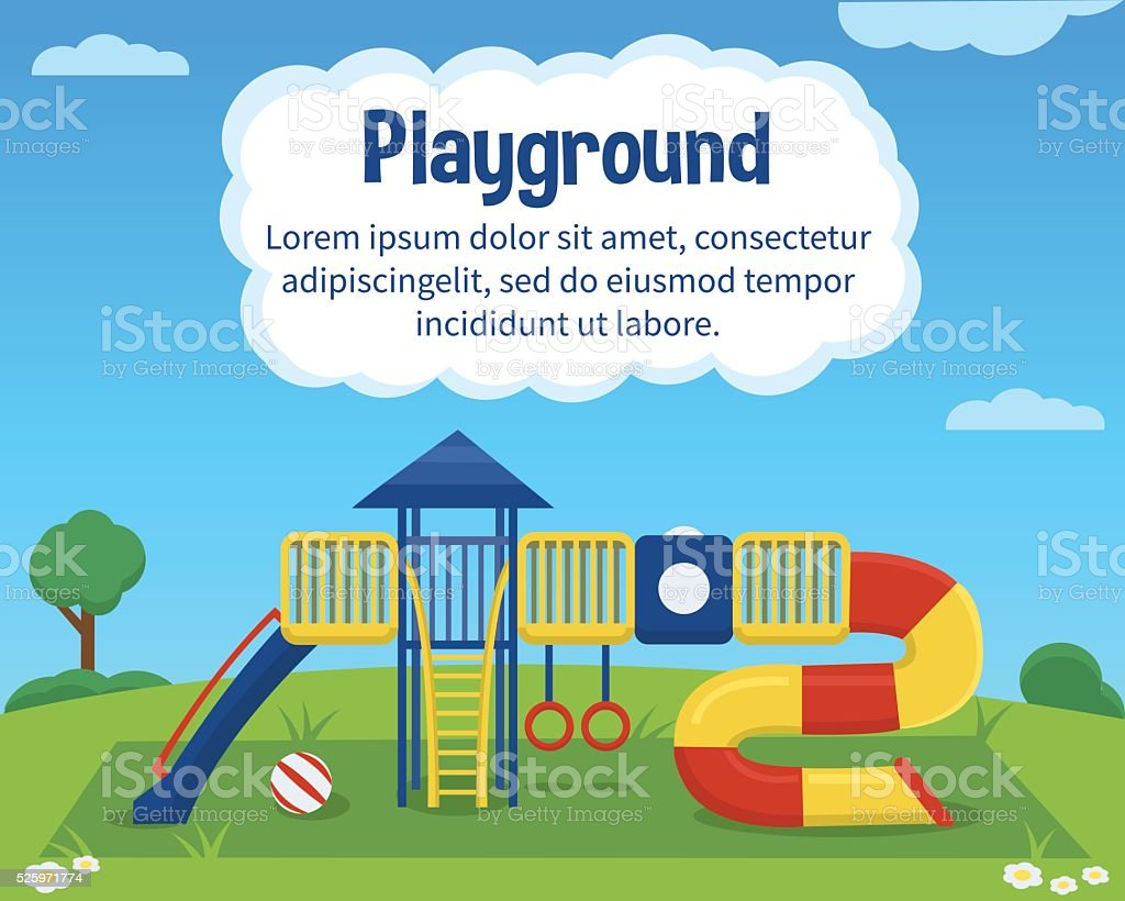 Kinder Kinderspielplatz – Vektorgrafik