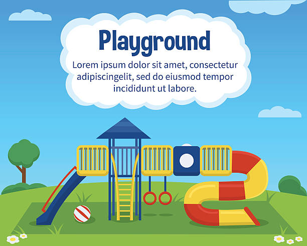 Aire de jeu pour enfants - Illustration vectorielle