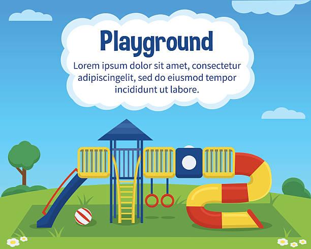 children playground - recess stock illustrations, clip art, cartoons, & icons