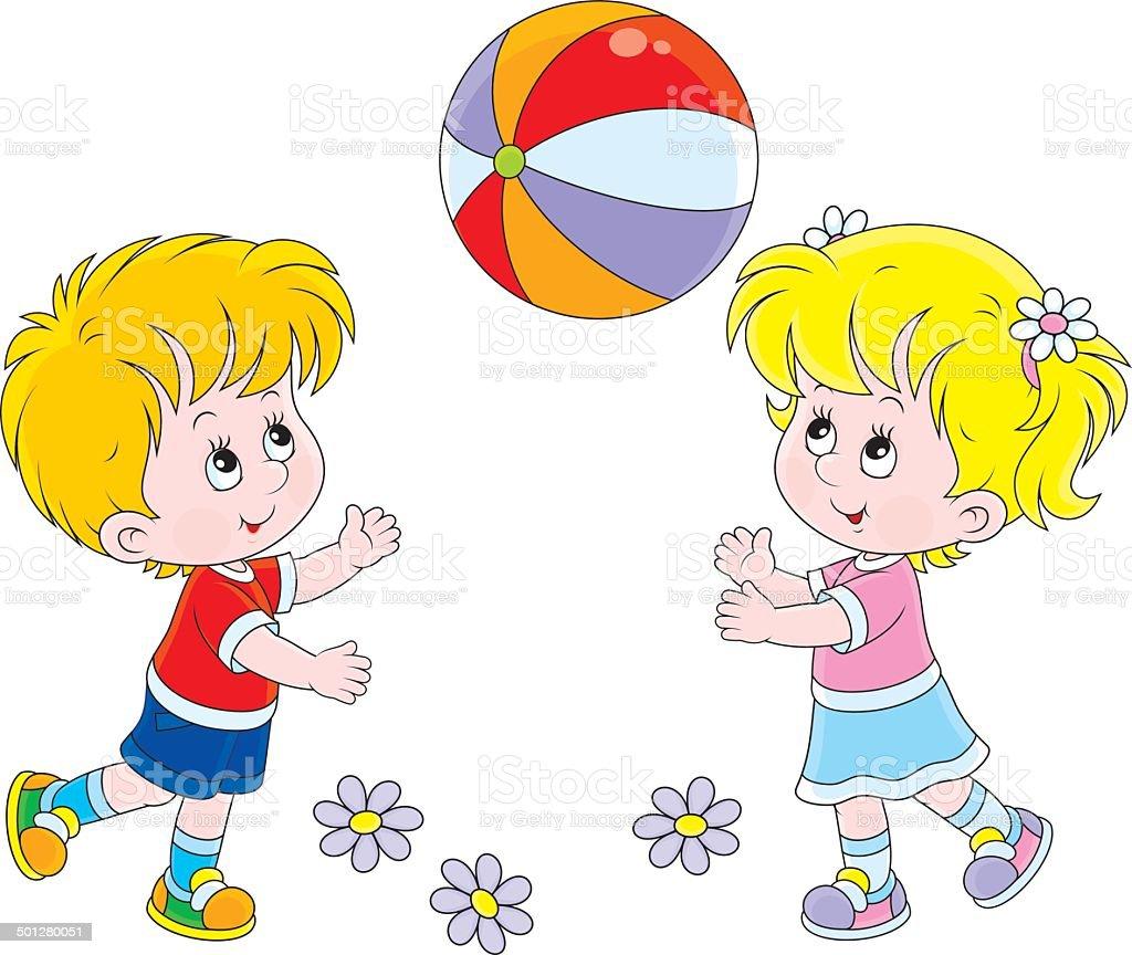 Bambini Che Giocano A Palla Immagini Vettoriali Stock E Altre
